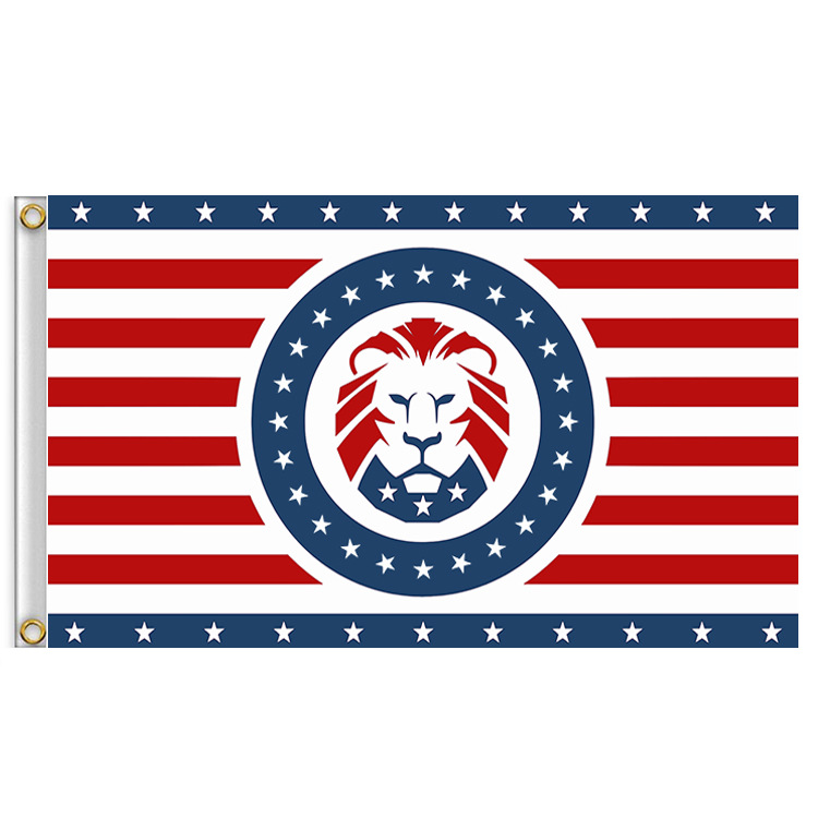 <font><b>Trump</b></font> Lion KEEP AMERICA GREAT <font><b>2020</b></font> Flag 3 x 5 FT 90 x 150 cm USA <font><b>2020</b></font> Election Flags Banners image