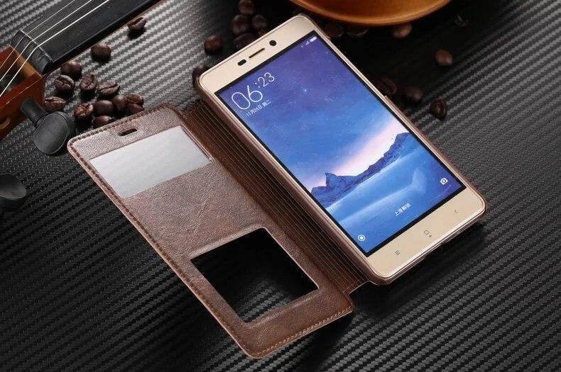 חדש מגיע! Xiaomi redmi note 3/הערה 4/Pro/3/3S/3Pro/3X טלפון המקרים להפוך חלון עור Xiaomi 5 Hongmi note2 כיסוי