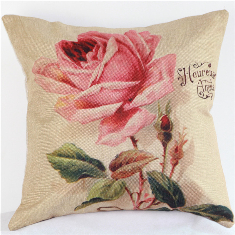 Hot Beauty Nordic Yellow Pink Flowers Simple Art Party Wholesale Wedding  Gift Cushion Cover Car Home