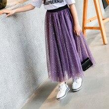 חדש 2019 בנות טוטו חצאית פעוט בגדי ילדים פאייטים רשת חצאיות לנערה מתבגרת 5 7 9 11 13 15 שנים ללבוש Clj221