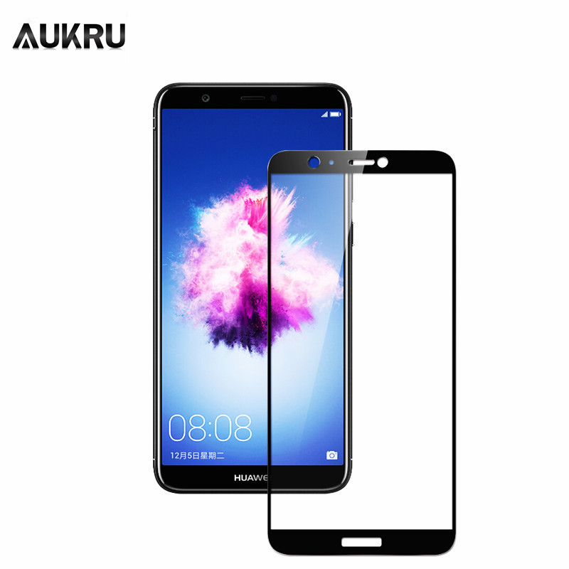 AUKRU Full Cover Tempered Glass For Huawei Honor 10 9 Lite