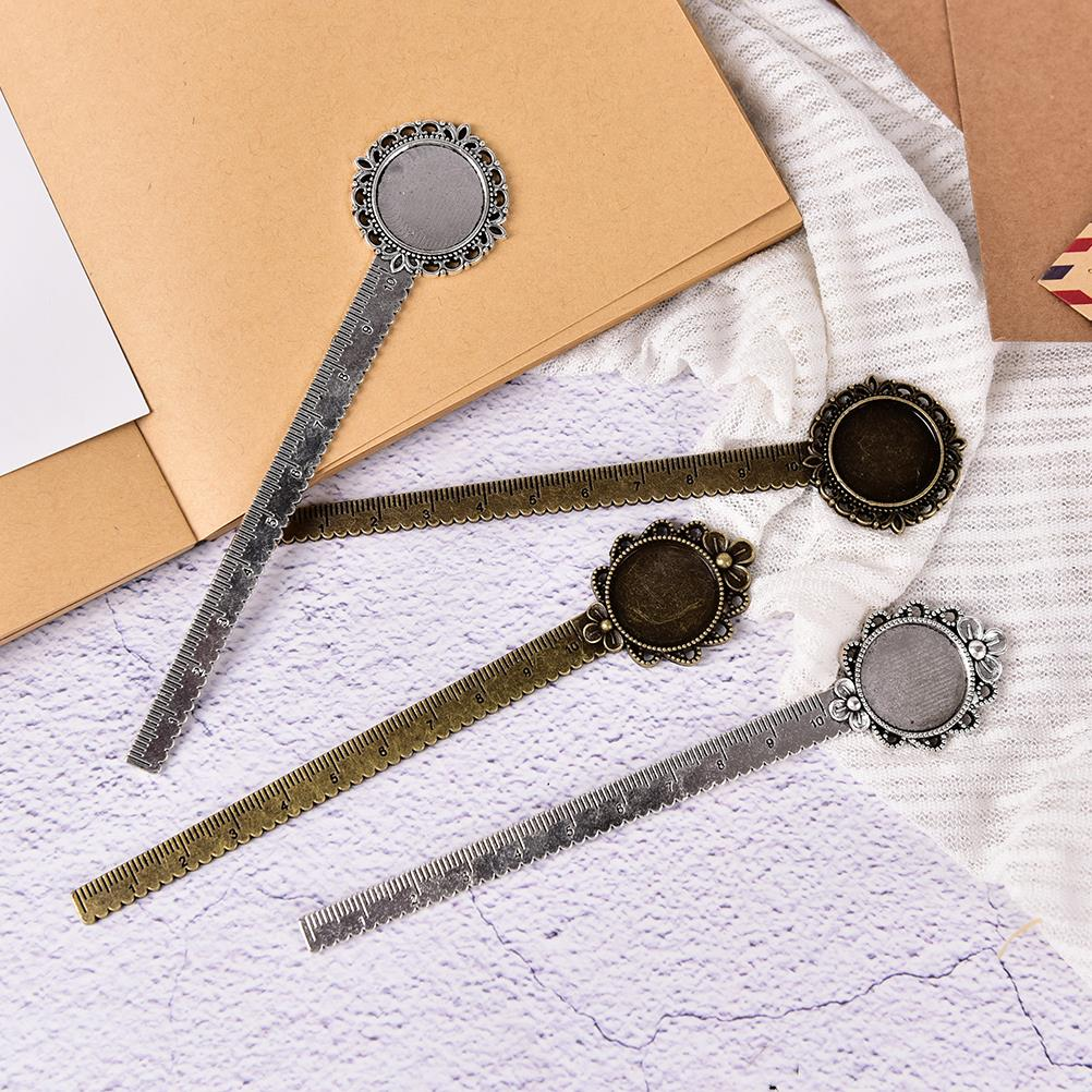 Peerless 1PCS Multifunctional DIY Metal Craft Bookmarks & Rulers For Inner 20mm Cabot School Stationery School Supplies