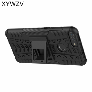 Image 2 - SFor Coque Huawei P Smart Fall Stoßfest Harte PC Silikon Telefon Fall Für Huawei P Smart Abdeckung Für Huawei Genießen 7 s Shell XYWZV