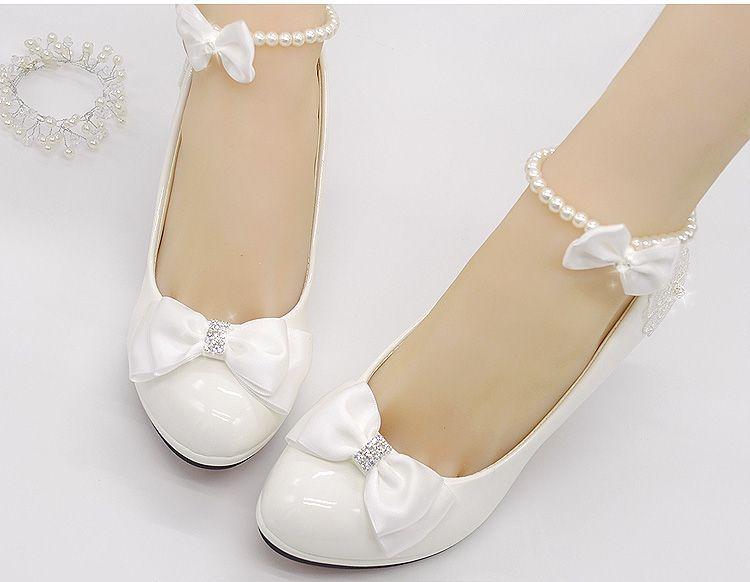zapatos de boda blanco leche luz marfil bombas para la mujer bajo