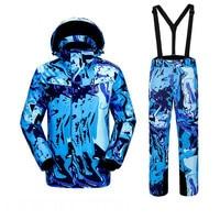 Зимние мужские ветрозащитные непромокаемые теплые лыжные костюмы на открытом воздухе дышащие износостойкие лыжные куртки лыжные Подтяжки