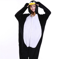 Hot Sale Unisex Adult Men Women One Piece Pajamas Kigurumi Halloween Animal Character Penguin Onesie Sleepwear