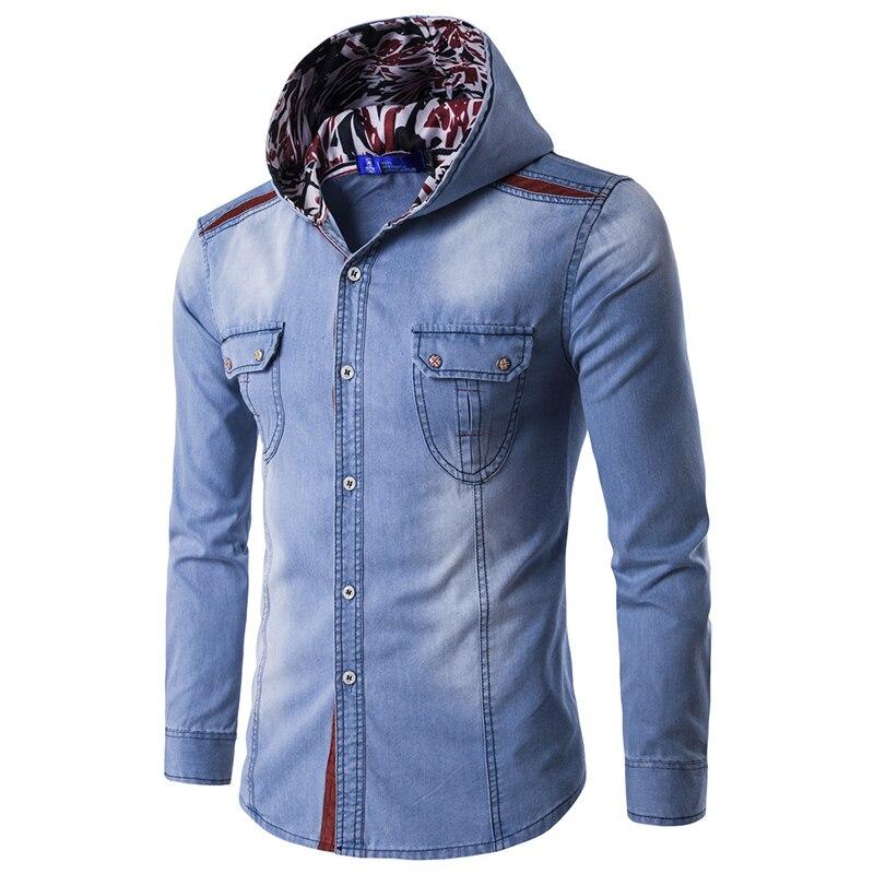 2018 New Fashion Men S Jean Hoodies Cowboy Men Jacket Tracksuits Denim Jacket Men Jeans Jacket Men