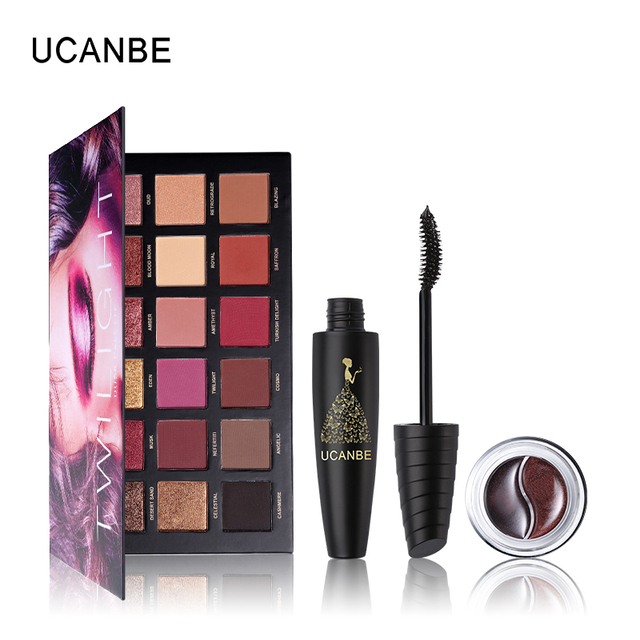 UCANBE Cosmetic 18 Color Eyeshadow Makeup Palette Shimmer