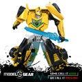 WeiJiang WEI JIANG TF Versão do Filme Dos Desenhos Animados Cor Amarela de Plástico Deformação Hornet Robô Transformação Brinquedos Action Figure