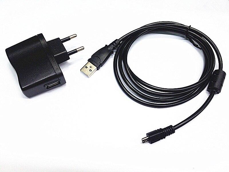 USB cargador Cable Cable de alimentación de CC para Panasonic HC-V750 P//HC-W850 P//c Videocámara C
