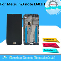LCD Screen Display Touch Digitizer With Frame For Meizu M3 Note L681H L Version Free Shipping