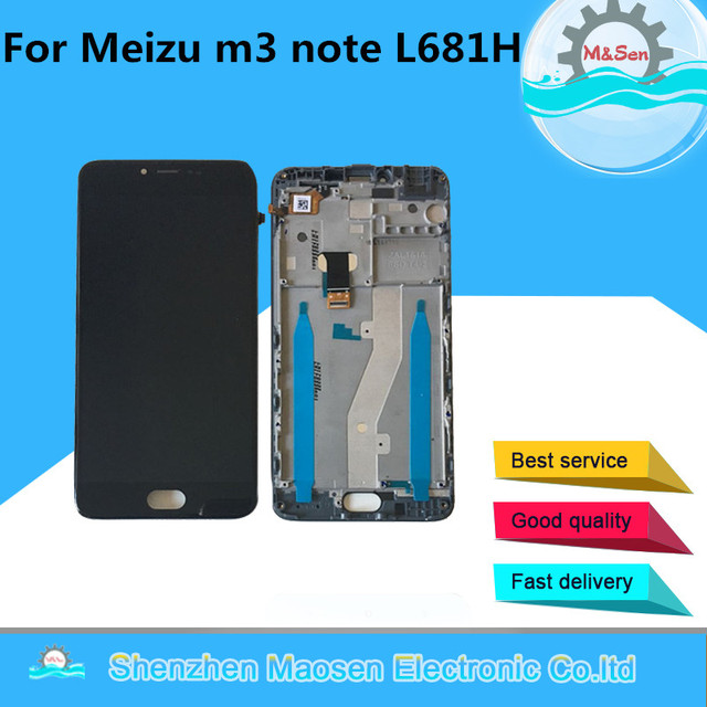 """Original 5.5 """"M & Sen Für Meizu m3 hinweis L681L681H L681L Version LCD Display + Touch Panel Digitizer mit Rahmen Nicht Für M681"""