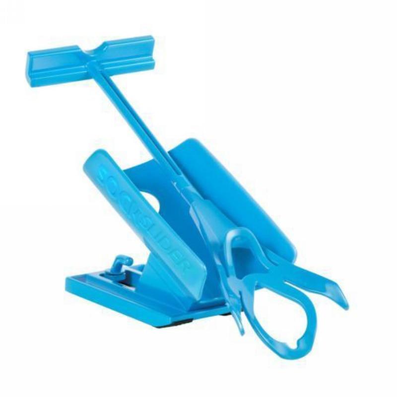 Mayitr 1pc Sock Slider Aid Blue Helper Kit Helps Put Socks On Off No Bending Shoe Horn Suitable For Socks sock aid kit sock helper slider fast