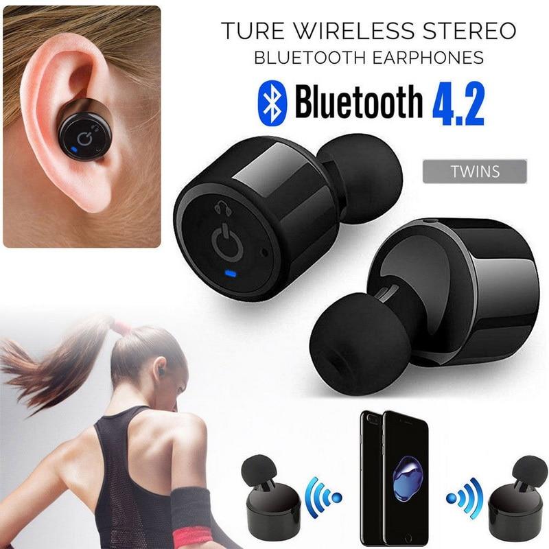 Mini 2 Pcs Newest Twins True Wireless Bluetooth Earphone Sport Stereo Earphone Earbuds With Mic Wireless Earbuds For Phone