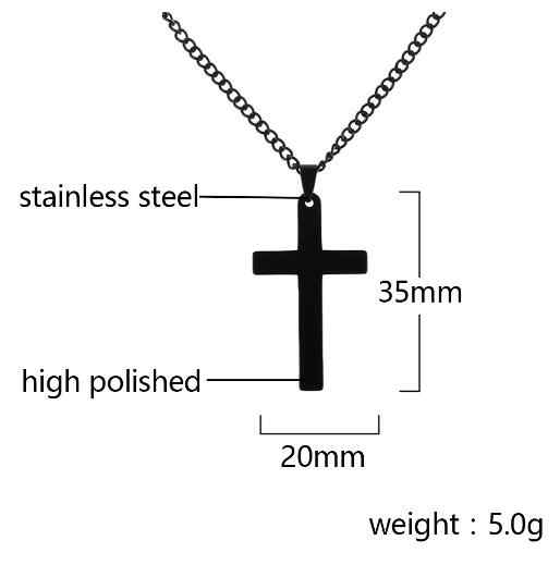 Cool Cross Pendant Necklace for men Metal Link Chain 4 Color Punk Rock Party Statement Jesus Prayer Jewelry Gift