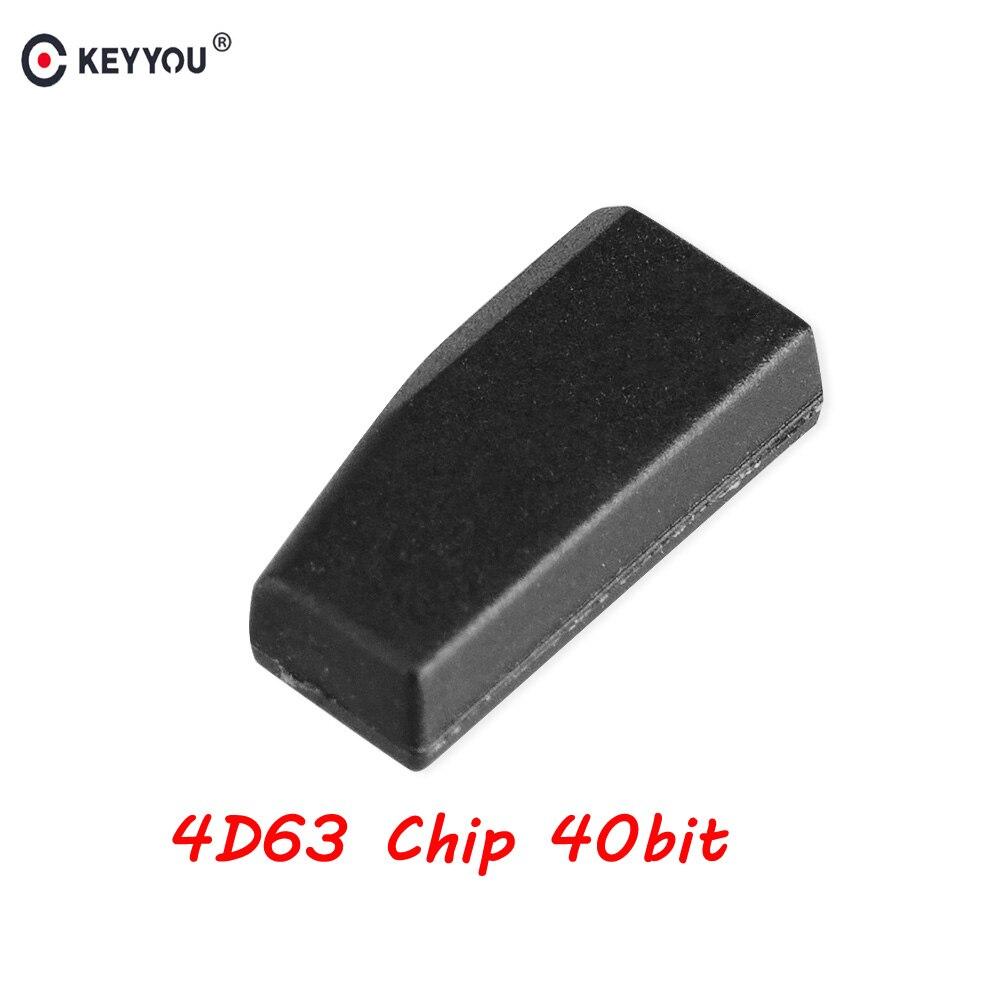 Puce de transpondeur automatique de carbone de KEYYOU pour la puce de Ford Mazda 4D63 40Bit 4D ID63