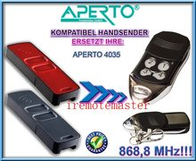 APERTO 4035 remote control , APERTO garage door remote 868,8MHZ replacement free shipping