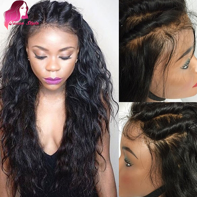 women Long for front black lace wigs