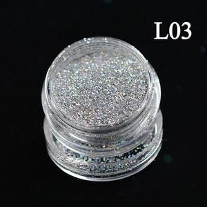 Image 4 - 1 Bottle Shining Dust Nail Art Glitter Decoration Pigment Powder Chrome Sequin Pink Laser Silver Polish Manicure Tool TRL01 16