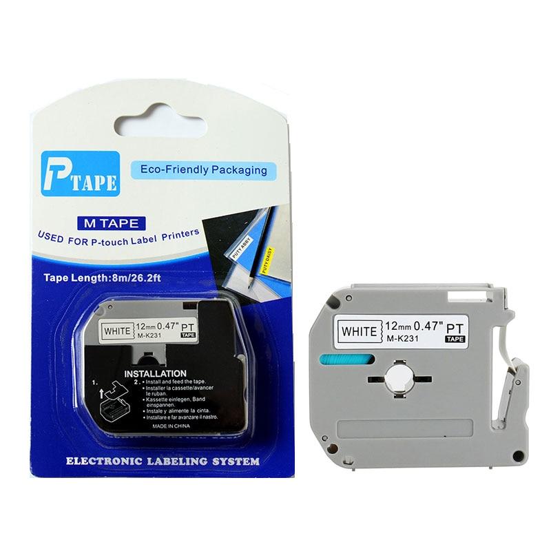 10PK / LOT 12 mm-es műanyag fehér szalaggal kompatibilis M szalag - Irodai elektronika