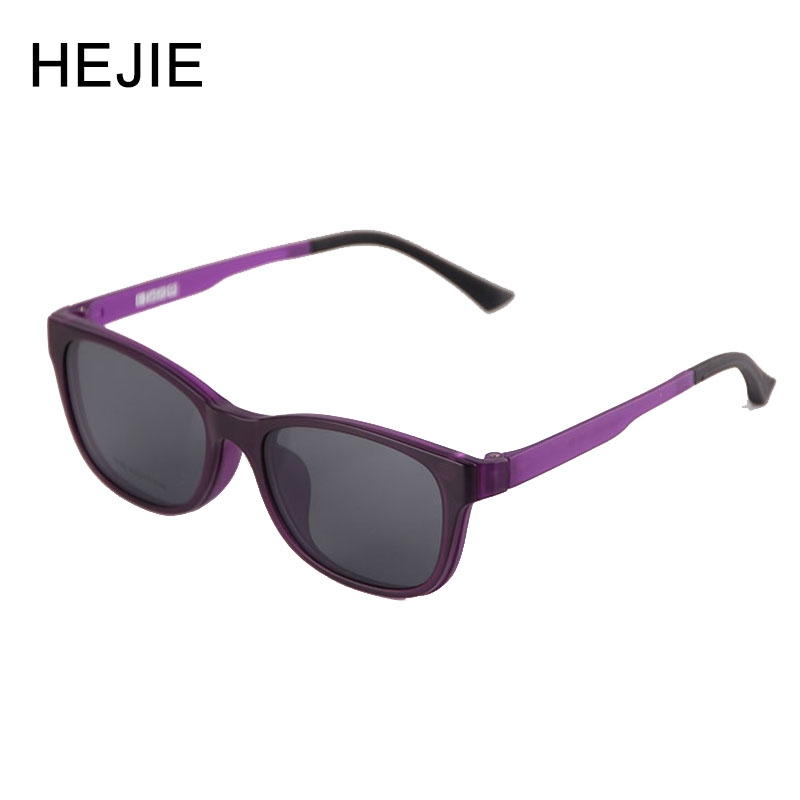88bbfbeca7 HEJIE Man Woman ULTEM Magnetic Polarized Sunglasses Clip   Optical  Eyeglasses Frames UV Protection Sun Glasses
