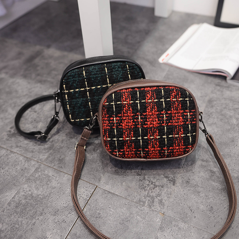 Hot sale lovely Woolen Female crossbody shoulder bag portable diagonal cross bag lady mini messenger bag
