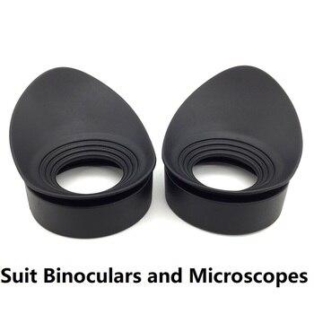 زوج واحد مناظير المطاط العين الكؤوس حراس العين قبعات القطر الداخلي 40 مللي متر ل مجهر العين التلسكوبات Eyecups