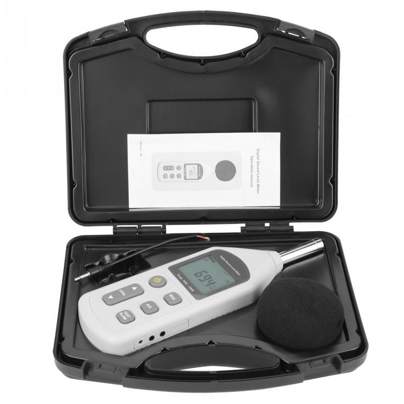 2019 Neuer Stil Handliche Mini Digital Noise Meter Sound Level Meter Lärm Messgerät Gm1357 Neue Weiße Farbe Modernes Design