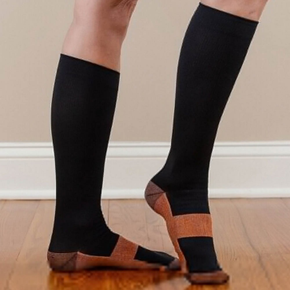 Hot Slae Varicose Vein Stocking Knee High Stockings Relief Compression Stocking Mens Sto ...