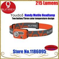 Sunrex Youdo 5 CREE XPG3 IPX6 Farol Ultra-luz À Prova D' Água 215 Lumens Para Caminhadas Camping LED Farol de Luz