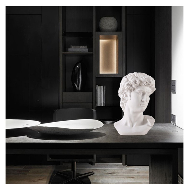 David Head Portraits Bust Mini Gypsum Statue Michelangelo Buonarroti Home Decoration for Resin Art&Craft Sketch Practice 6