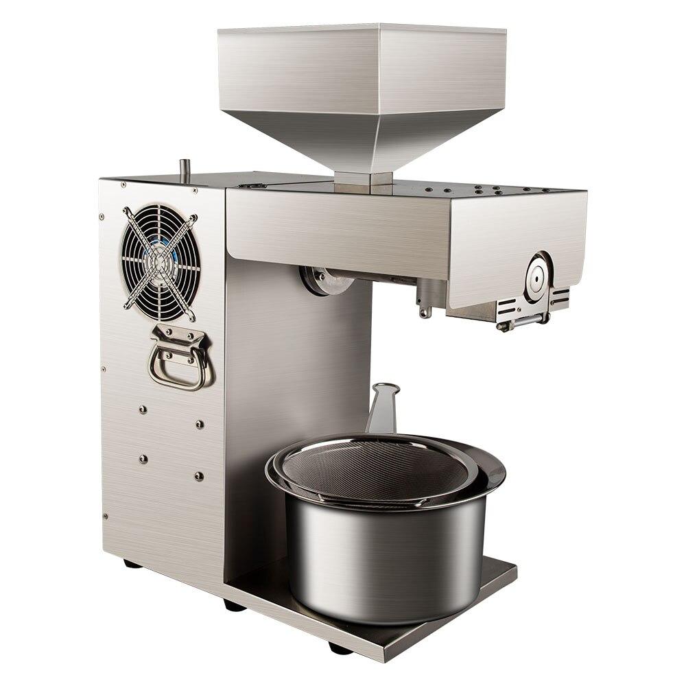 Machine d'extraction d'huile de machine de presse d'huile de noix de coco froide d'acier inoxydable