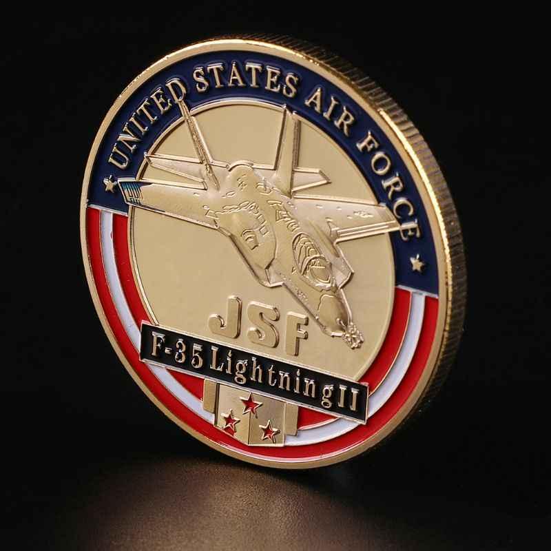 United States Air Force F-35 Lutador Moedas Comemorativas Para Divertimentos casa collectible Militar