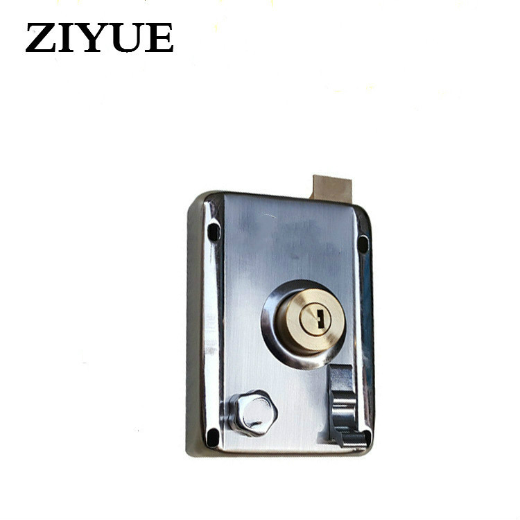 Free Shipping Gate home Stainless Steel Anti - Theft Door Lock Door Lock High - Quality Stainless Steel Security Door Locks 304 stainless steel slot to lock the front door lock anti theft lock never rust free shipping