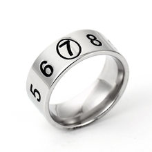 c28d612858 Korean Stainless Steel Jewelry Rings for Women Men Simple Chic Harajuku  Style Trend Couple Digital Ring Party Gift Anniversary