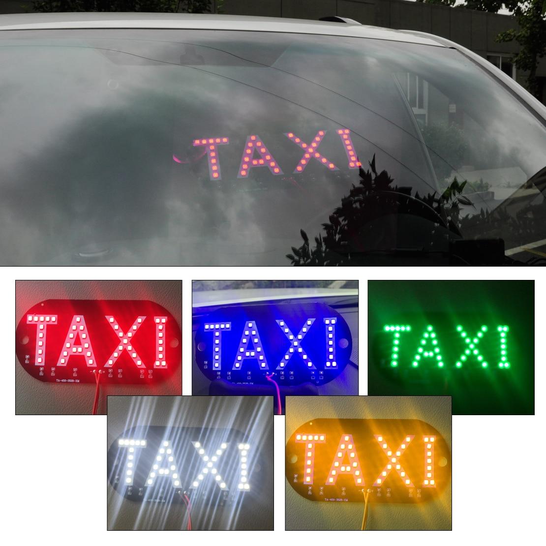 1pc Taxi Cab Windscreen Windshield Sign Blue LED Light Car High Brightness Lamp