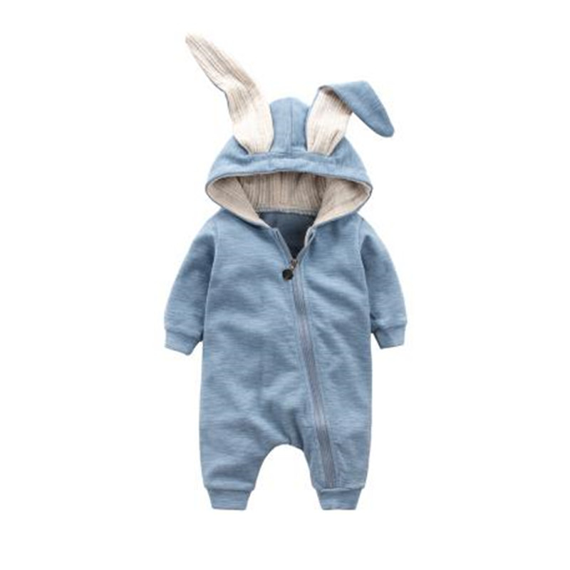 Spring Autumn Baby Clothing 2017 New Newborn Baby Boy Girl Romper Clothes Rabbit Cotton Long Sleeve Infant Product B0003 newborn baby boy rompers autumn winter rabbit long sleeve boy clothes jumpsuits baby girl romper toddler overalls clothing