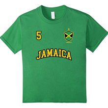 7dc9ce90c New Cotton Leisure Fashion Brand Clothing Jamaica Shirt Number 5  Soccersteam Sporter Jamaican Footballer Flag T