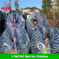 1.7M PVC ball Inflatable Bubble Football Loopy zorb ball for sale inflatable human hamster ball bubble bumpers for adults