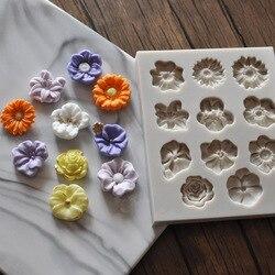 Luyou diy pansies flor molde de silicone fondant molde bolo ferramentas de decoração de chocolate gumpaste molde fm1337