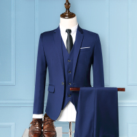 Men's Formal Suits Three piece Sets, Business Wedding Groom Dress, Mens Suit Jackets + Vests + Pants Size S 3XL
