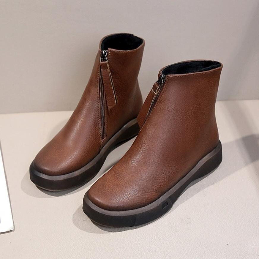 337a20f62 Botas Pu Muslo Mujer Venta Zapatos marrón Cortas Zip Negro Motocicleta Plataforma  Cuero Caliente raxrn6Z