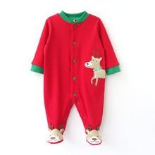 Новорожденного Рождество Детские Спальные Мешки Чистого Хлопка Супер Мягкие Детские Пижамы Осень Зима Теплая Детская Одежда 0-2 лет