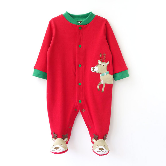Newborn Infant Christmas Baby Sleeping Bags Pure Cotton Super Soft Baby Pajamas Autumn Winter Warm Baby Clothing 0-2 years old