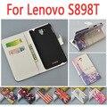 Capa de couro luxo negócios para Lenovo S898T / S S898 898 898 T T flip caso tampa da caixa com LenovoS898T telefone covers cases