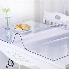 ПВХ водонепроницаемая скатерть, прозрачная скатерть с рисунком, покрытие для кухонного стола, масляная ткань, мягкая стеклянная скатерть 1,5 мм FC0090