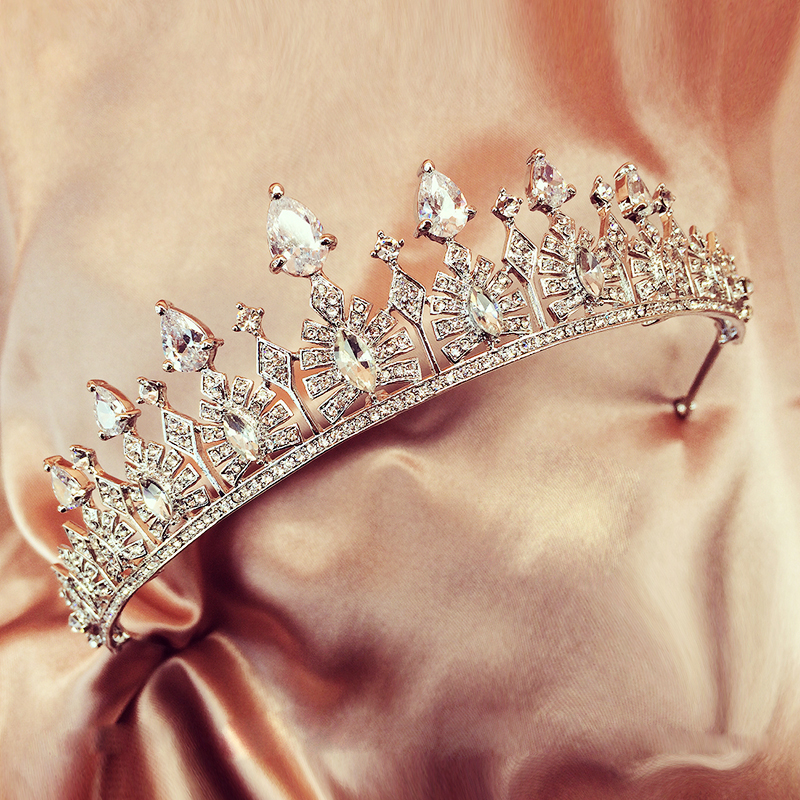 Luxury Zircon Bridal Tiaras Diadem Vintage Hair Jewelry Crown Ornaments Wedding Hair Accessories Prom Tiara Bridal