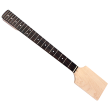 DIY 22 Frets Maple Neck Fretboard Fingerboard Rosewood Paddle Head Guitar Neck for Electric Guitar Maket Tool недорого