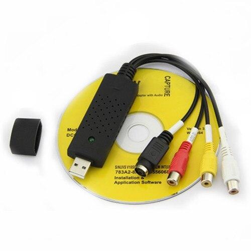Free shipping New USB 2.0 dc60 tv dvd vhs video capture card audio av adapter #8039