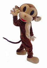 Naughty Monkey Mascot Costume Rhesus Cartoon Apparel  Halloween Party Adult Size Free Shipping